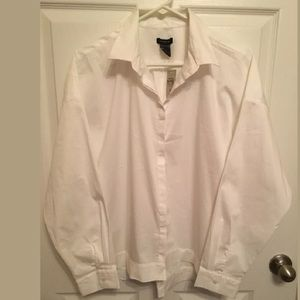 NWT Ann Taylor White  Shirt Long Sleeve